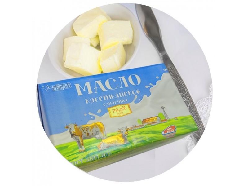 Масло сливочное Крестьянское 72,5%