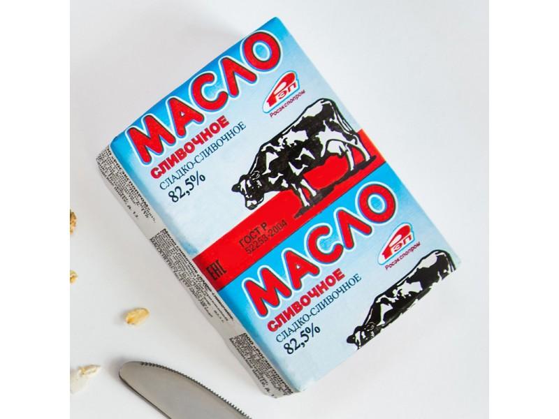 Масло сладко-сливочное, 82,5%